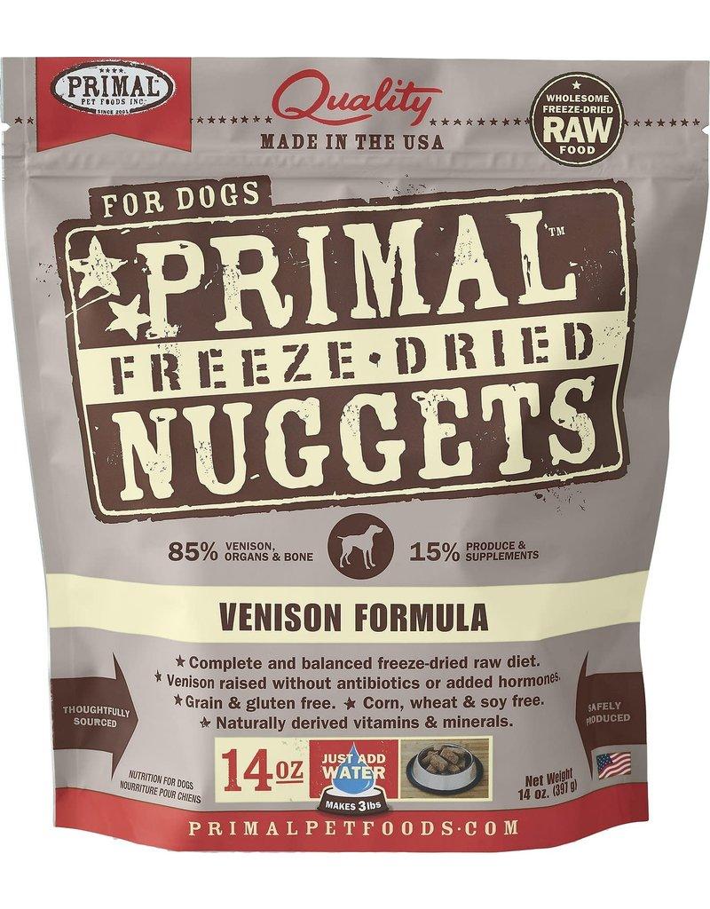 Primal Frozen Raw Venison Nuggets Dog 3 LB