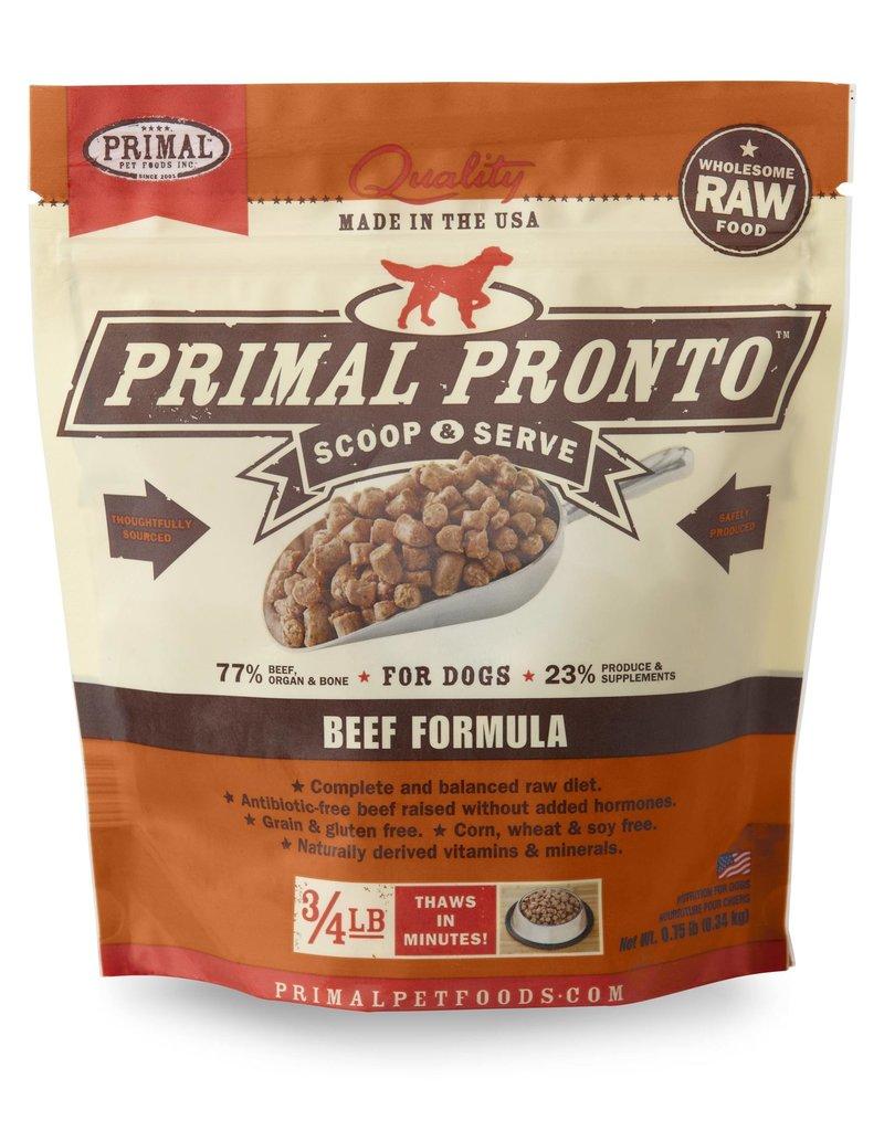 Primal Dog Frozen Pronto Beef 0.75 Lb