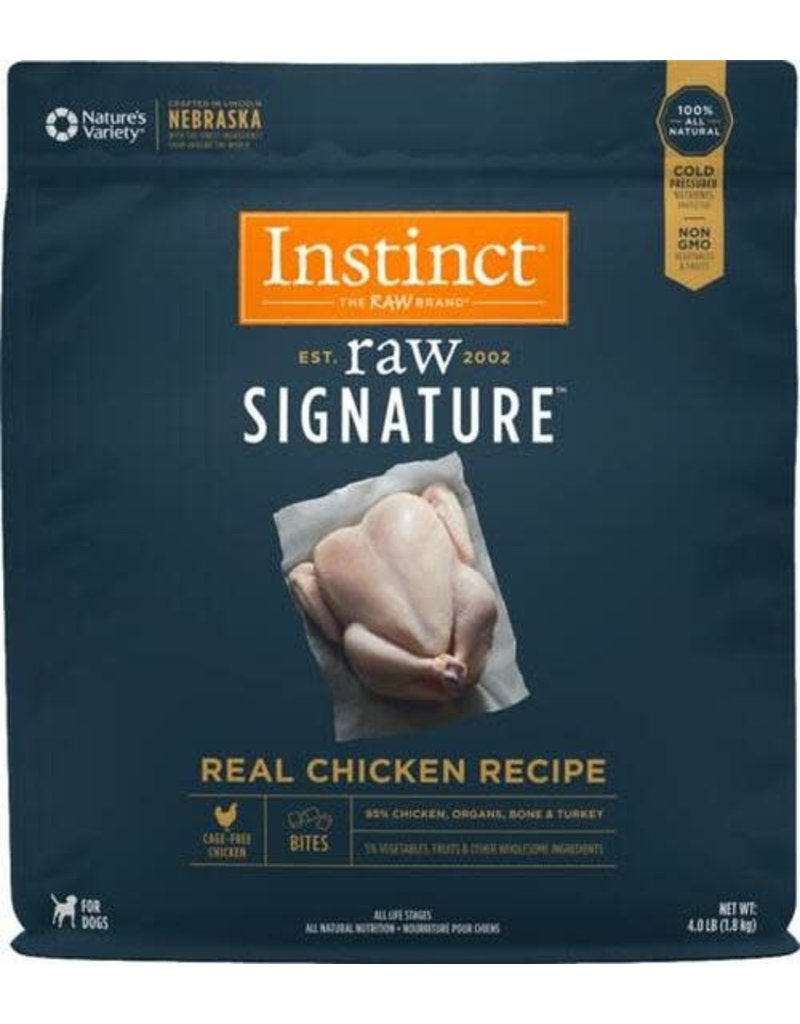 Nature's Variety Instinct  Signature Frozen Raw Dog Chicken Bites 4 Lb