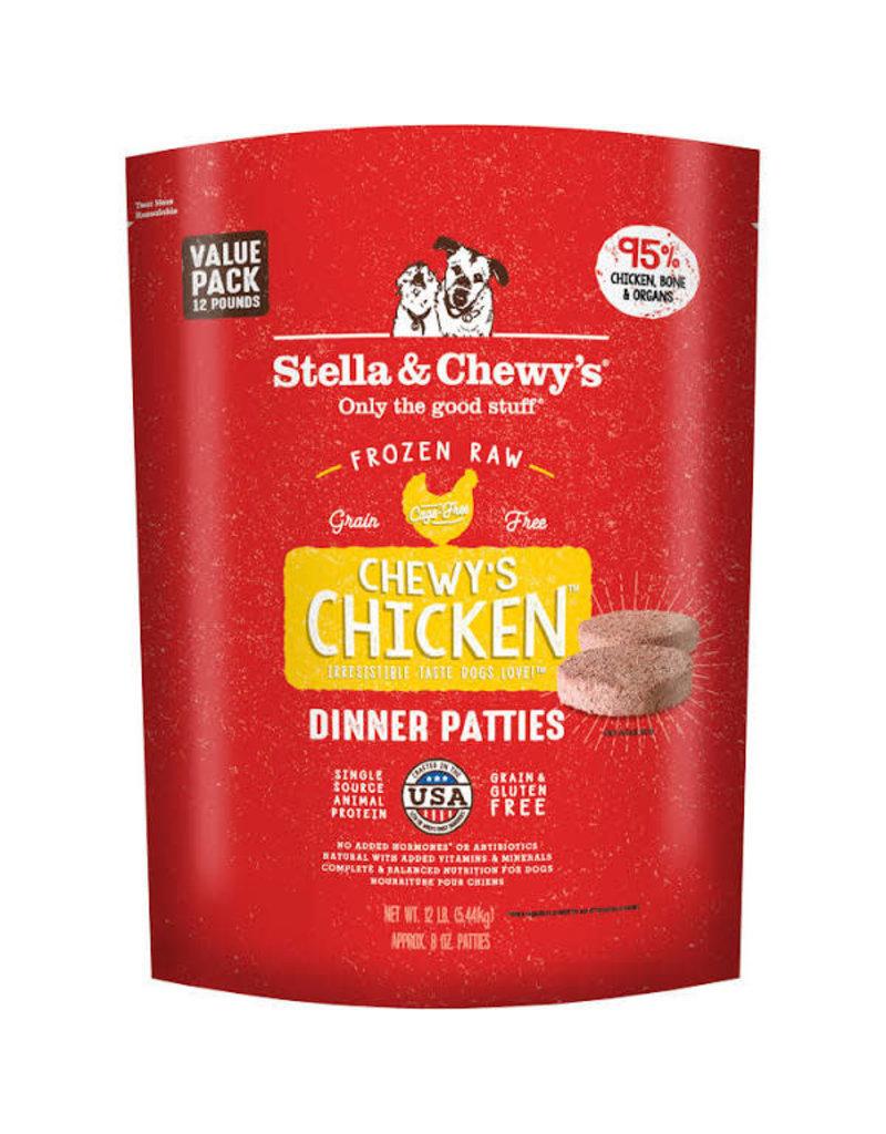 Stella and Chewy's Dog Frozen Dinner Patties Chicken 12LB