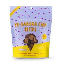 Bocce's Bakery Bocce's Bakery Peanut Butter Banana Chip Soft & Chewy Dog Treat 6 oz