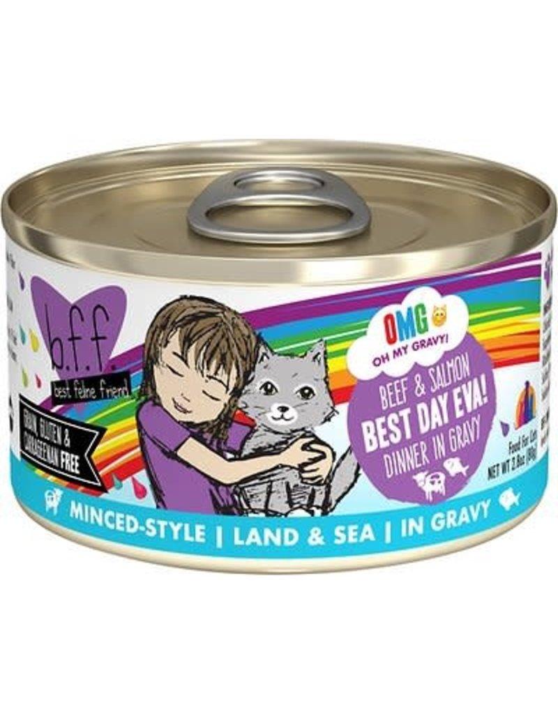 Weruva BFF Cat Can Oh My Gravy Beef Salmon 2.8 OZ