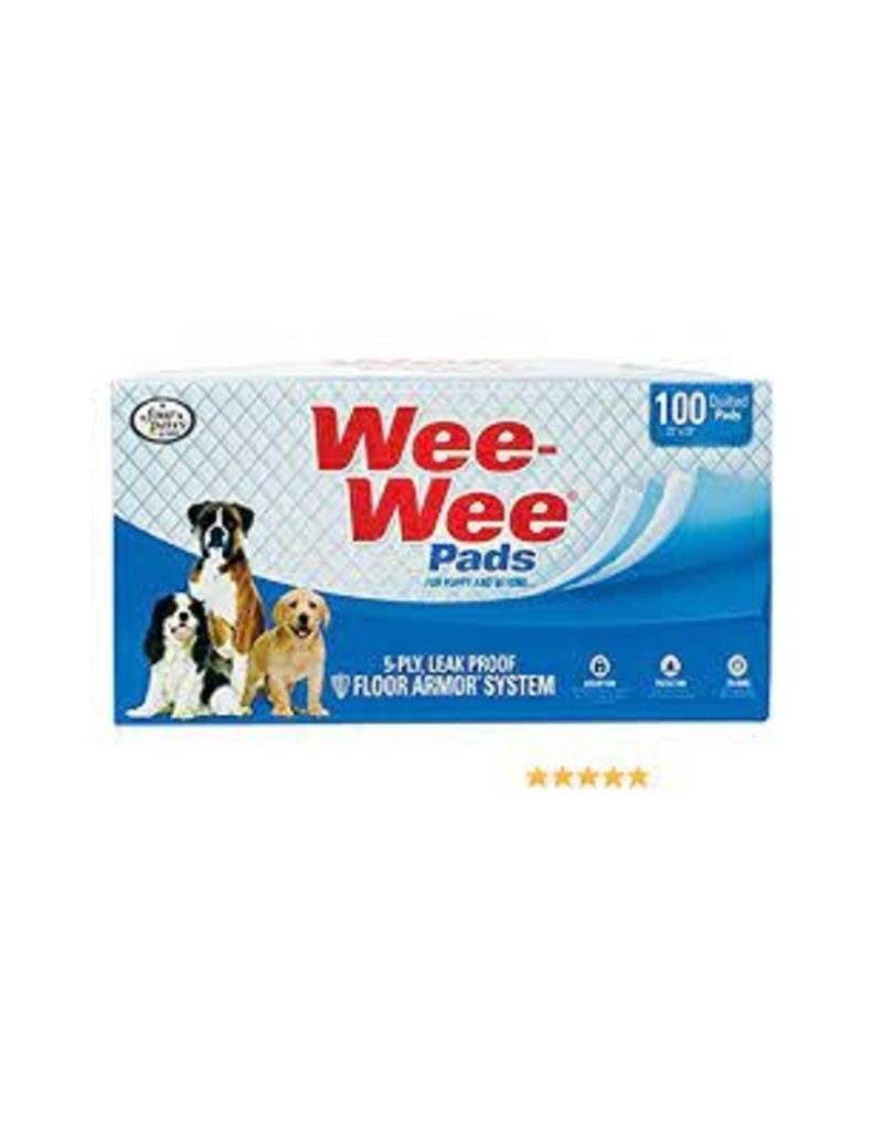 Four Paws Wee-Wee Pad Bulk 100 CT