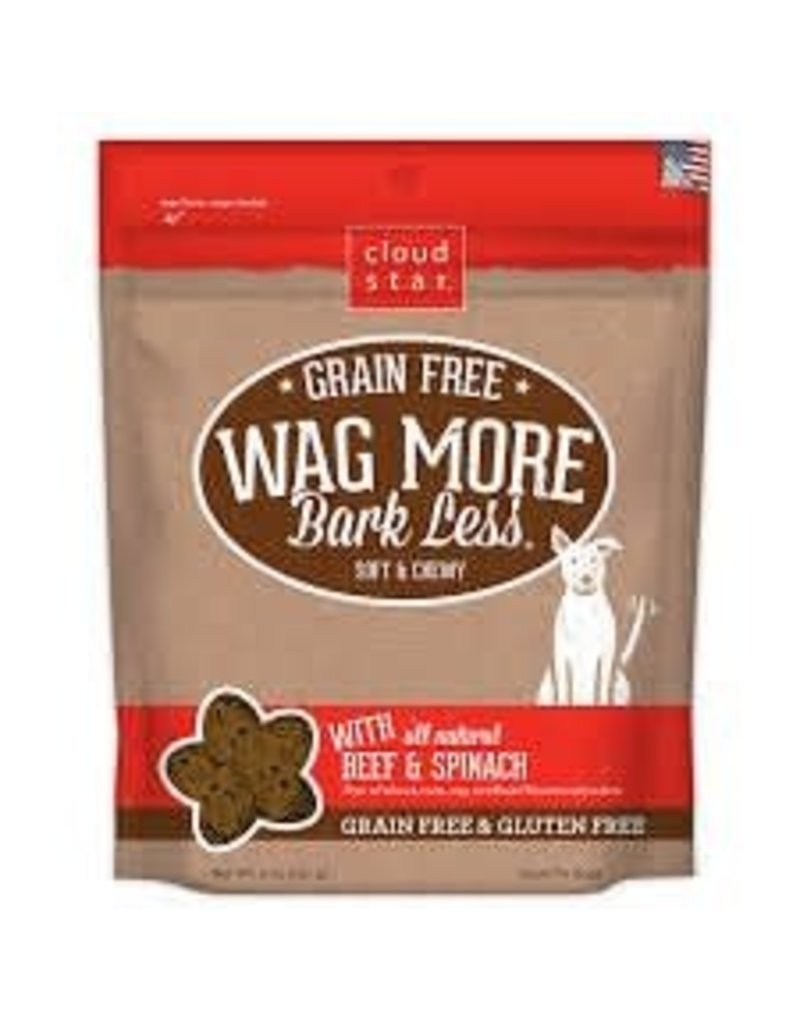 Cloud Star Wag More Dog Treat Grain Free Soft & Chewy Beef 5 oz