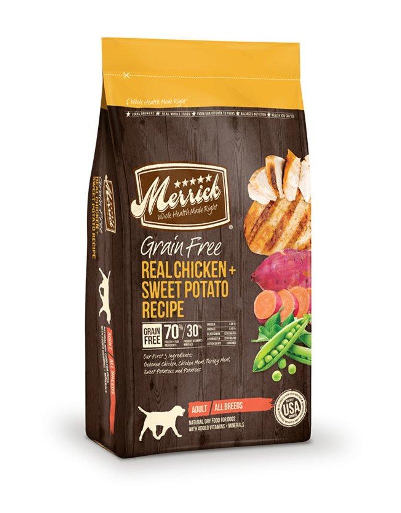 Merrick Dry Dog Grain Free Chicken 4 LB