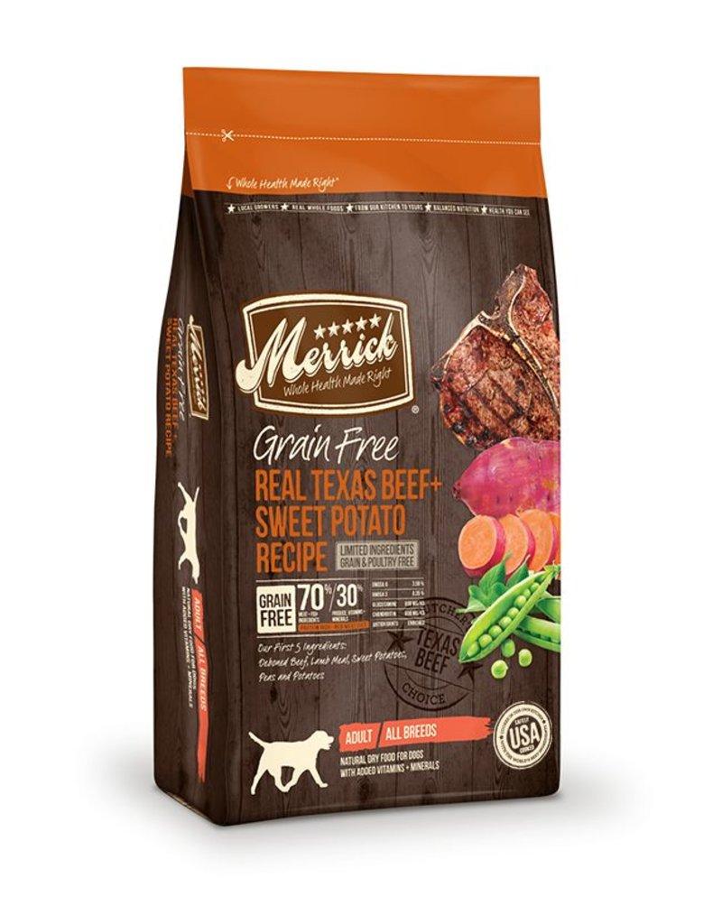Merrick Dry Dog Grain Free Texas Beef 4 LB
