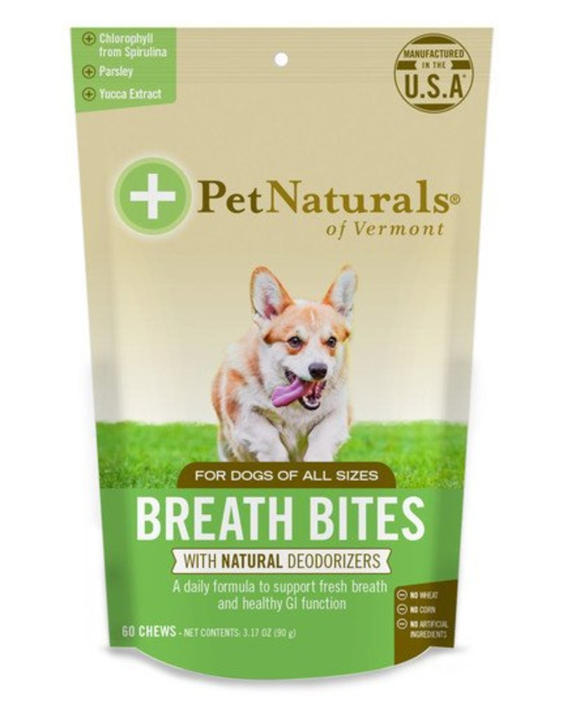 Pet Naturals of Vermont Breath Bites Dog 60 ct
