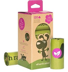 Earth Rated Poop Bags Case 120 Eco-Friendly 8 Roll Bags