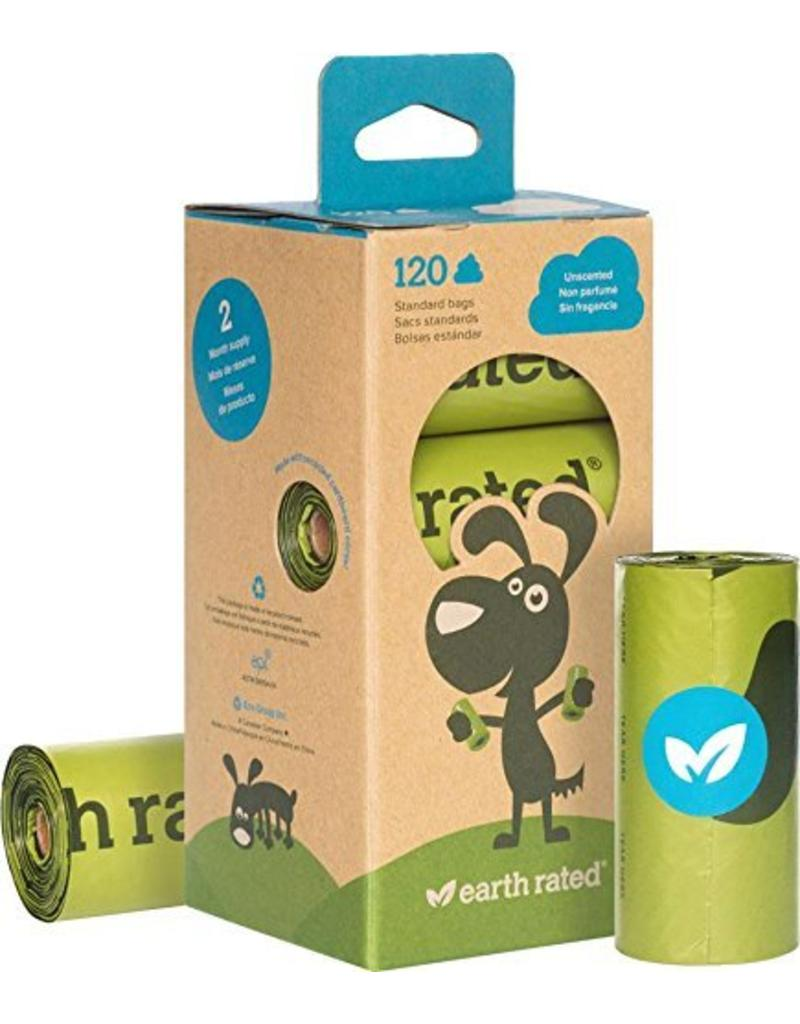 Earth Rated Poop Bags Case 120 Eco-Friendly 8 Roll Bags Unscented
