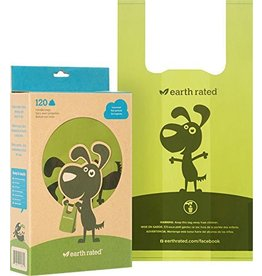 Earth Rated Poop Bags Case 120 Eco-Friendly Bags with Handle Unscented