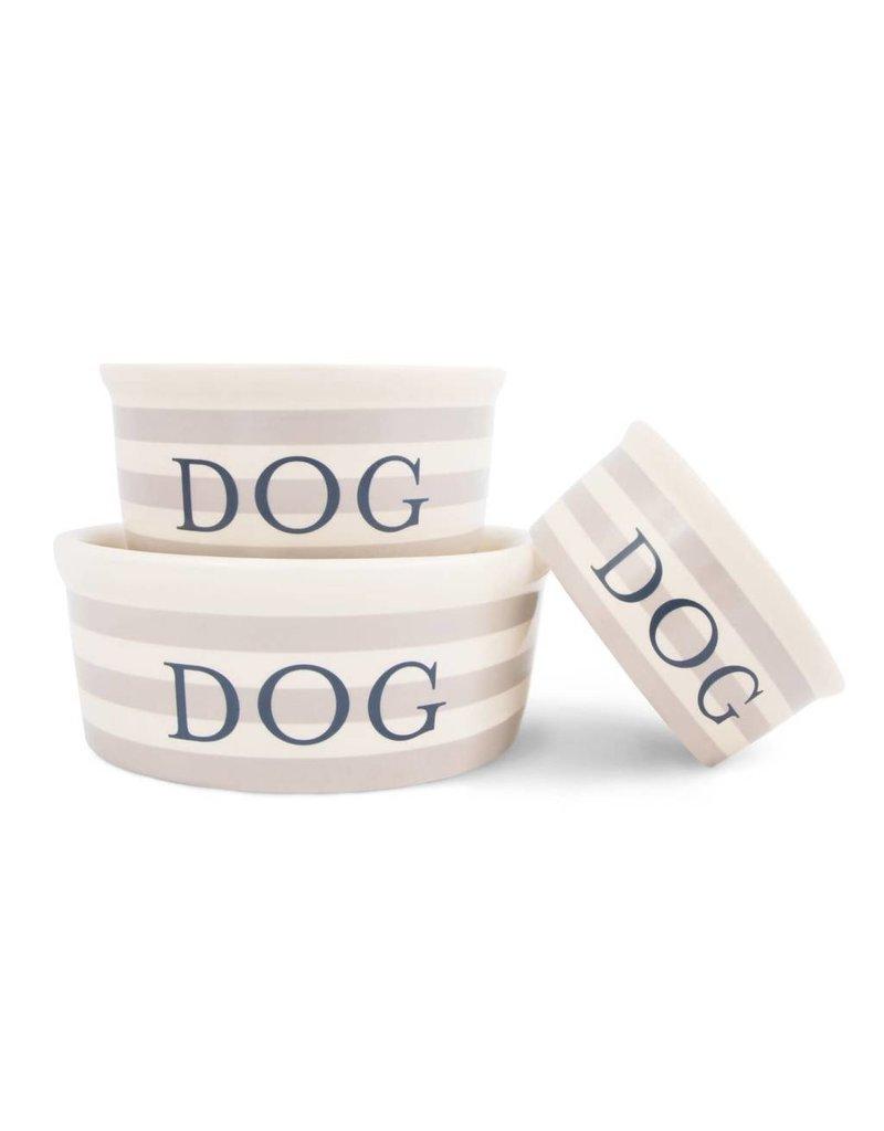 Harry Barker Vintage Stripe Ceramic Dog Bowl Medium