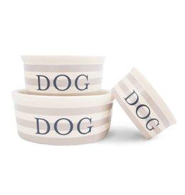 Harry Barker Vintage Stripe Ceramic Dog Bowl Large