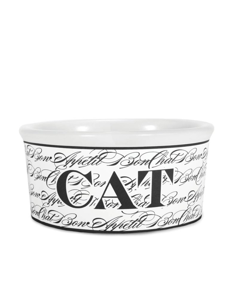Harry Barker Bon Chat Ceramic Cat Bowl