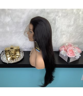 "Kimberly - 26"" Full Lace Silky Straight, Pre-Bleached, Pre-Plucked"