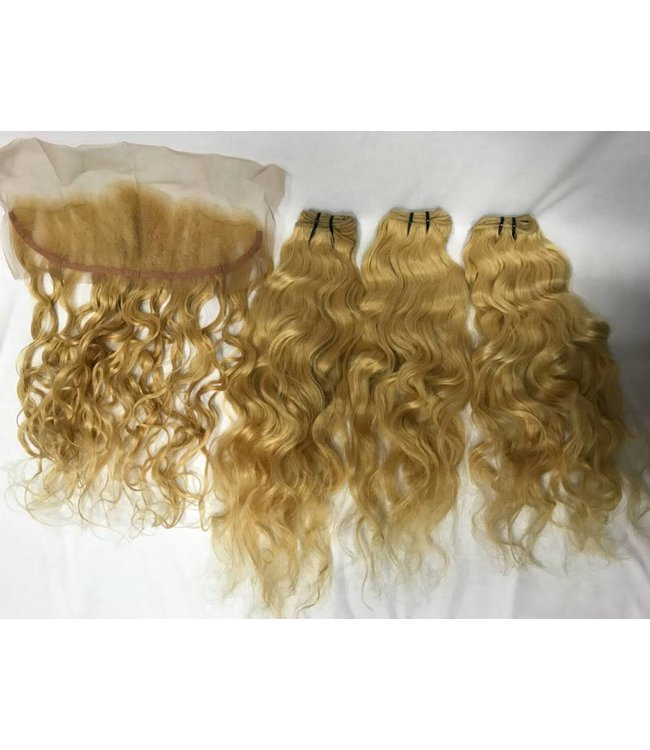"Raw Indian Blonde Frontal 13""x4"""