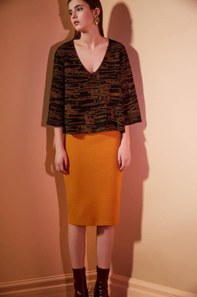 Eve Gravel Between Us Skirt, Mustard