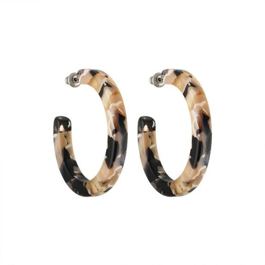 Machete Midi Hoops in Abalone
