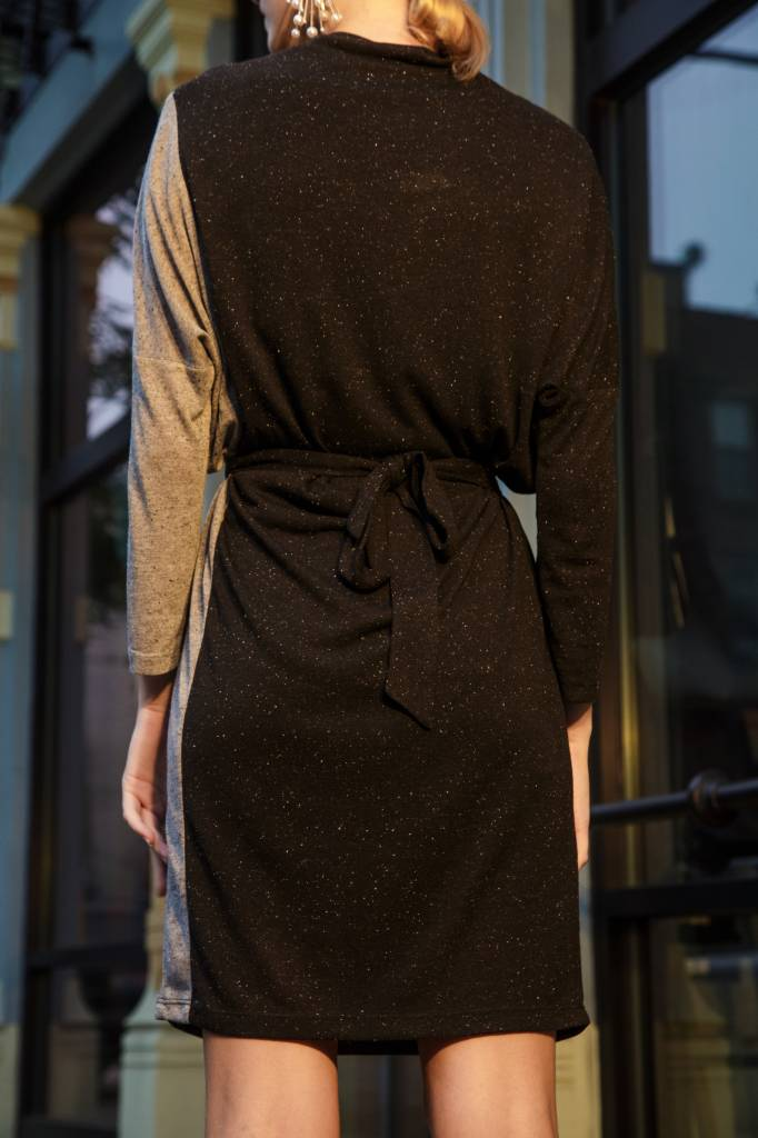 Eve Gravel Night Train Dress, Black and Grey