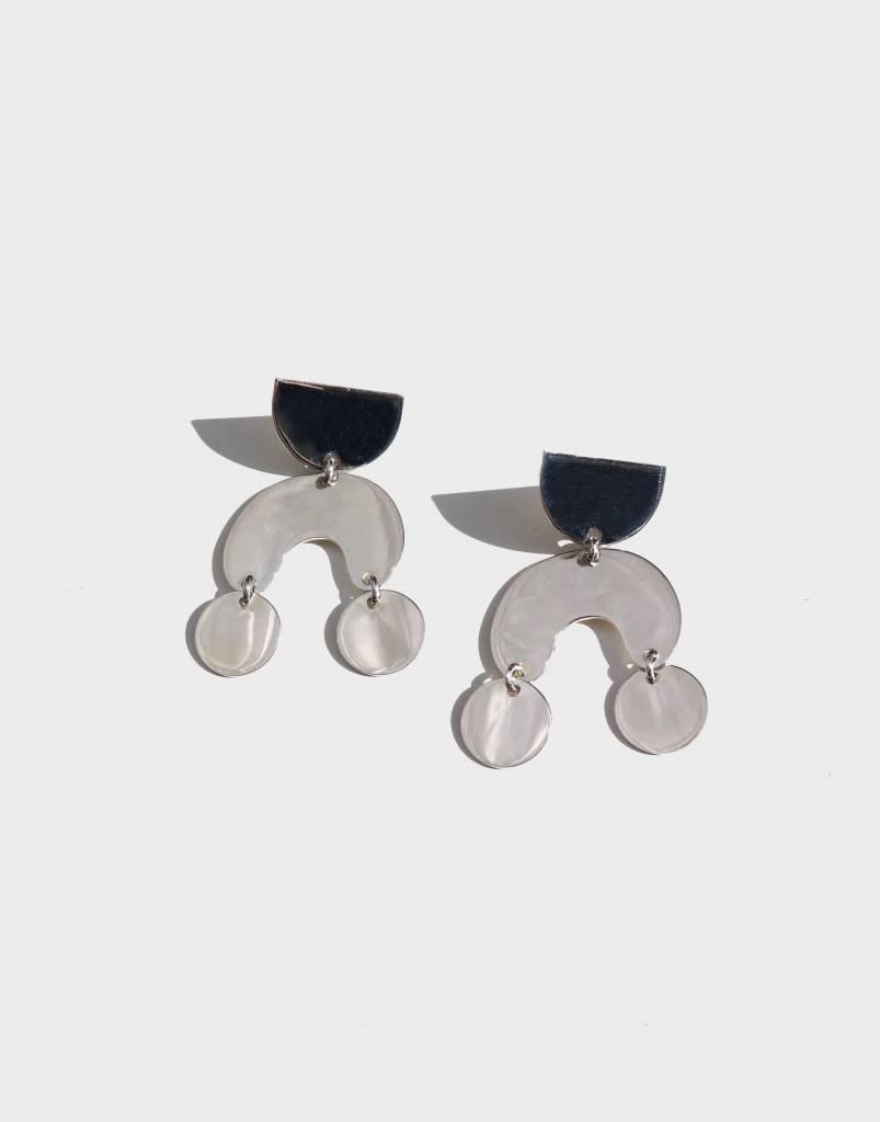 Modern Weaving Teeny Tiny Moondance Earrings, Sterling SIlver