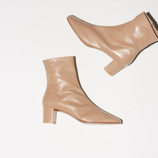 By Far Sofia, Nude Leather Boots
