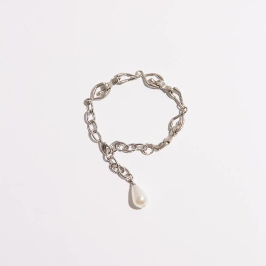 FAUX/real Female Throuple Bracelet Silver