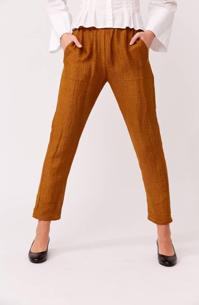 Laura Siegel Silk/ Hemp Pants Burnt Orange