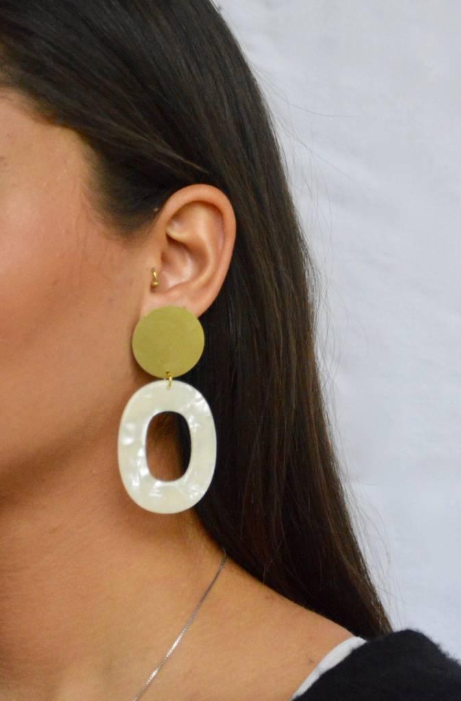 TMBTITWI Opal Hollow Earrings