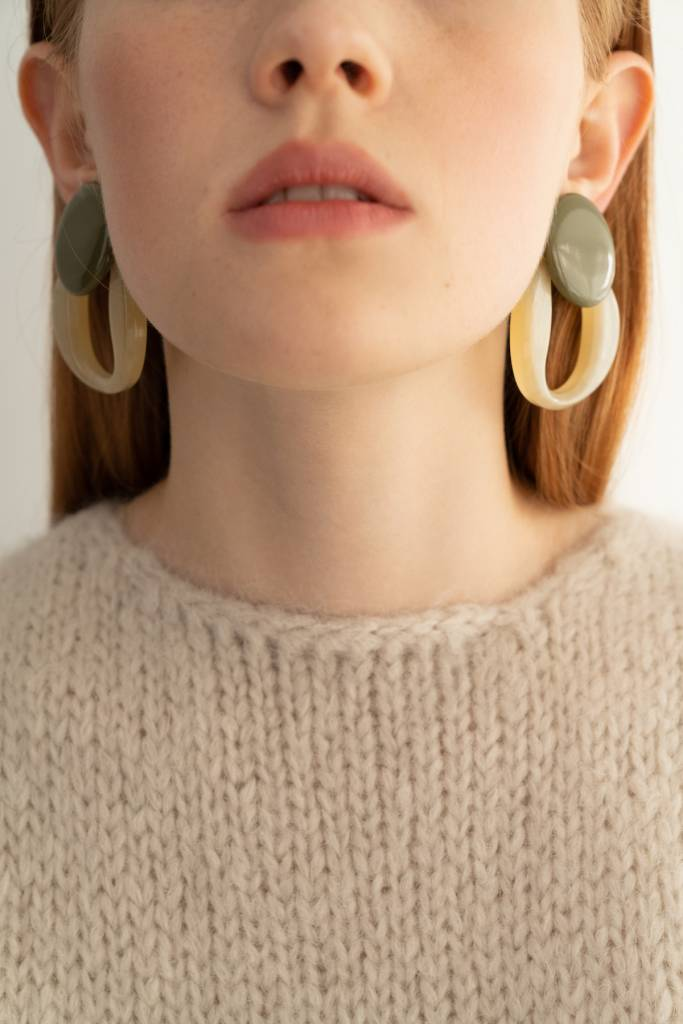 Bae Bae Volume Orna Circle Earrings