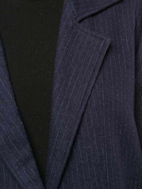 Kamperett Rue Coat, Navy Pinstripe