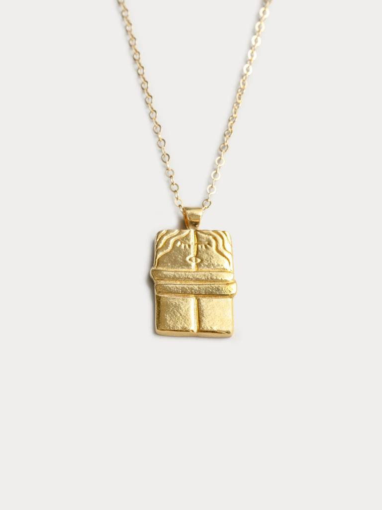 Wolf Circus Brancusi The Kiss Gold Necklace