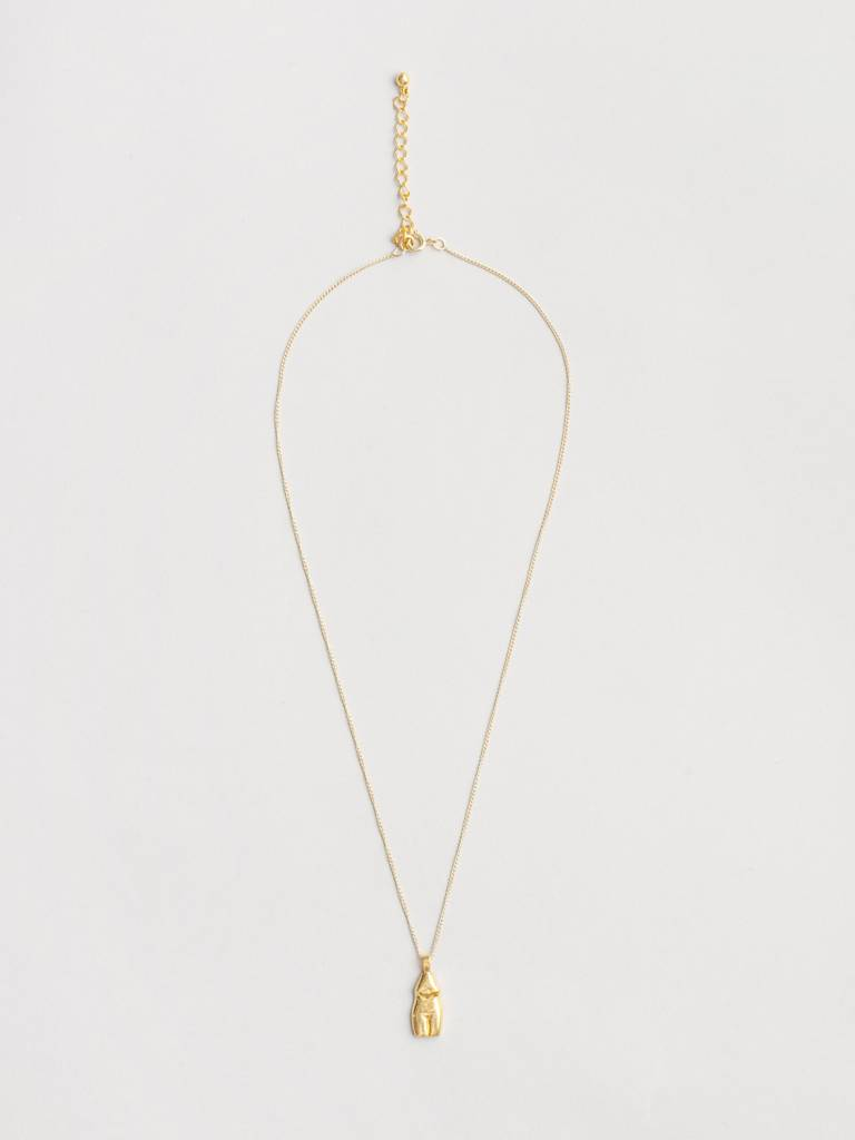 Wolf Circus Gold Plated Women Vase by Rachel Saunders Necklace