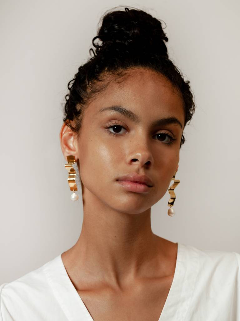 Wolf Circus Gold Plated Lunette Earrings