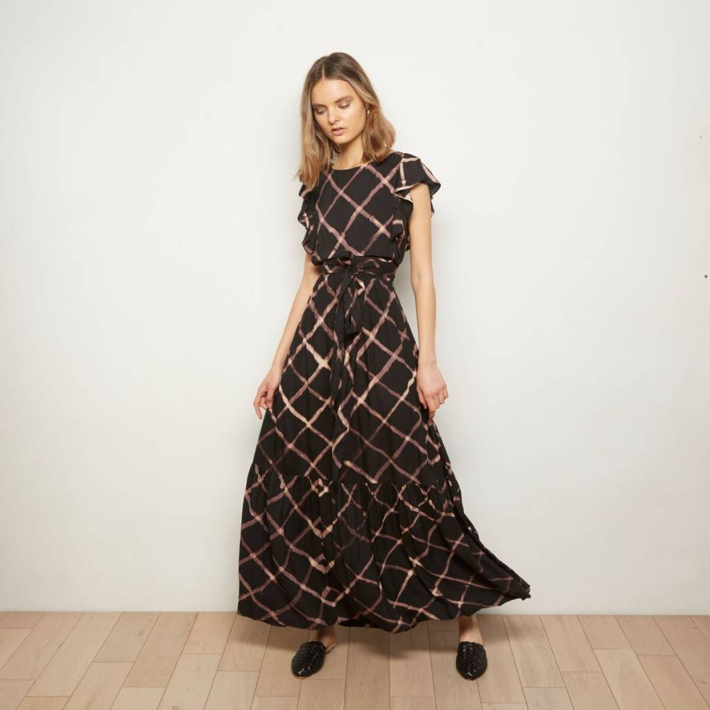 The Odells Seville Ruffle Maxi