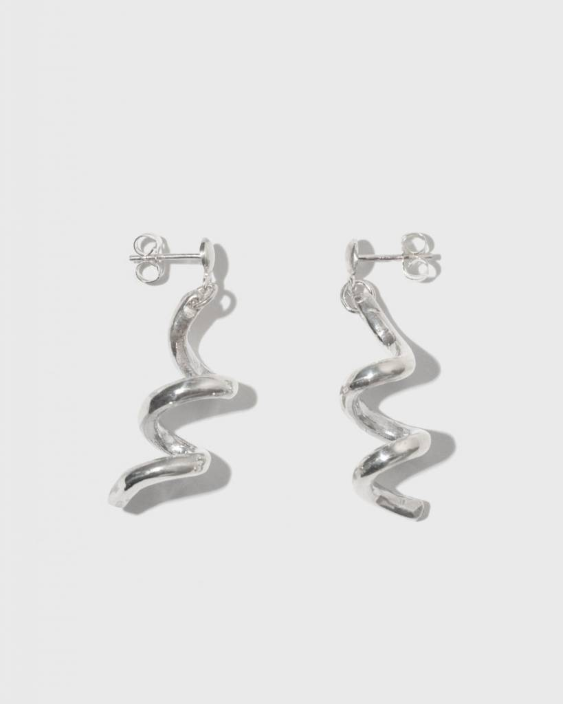 Open House Projects Spiral Earrings Silver
