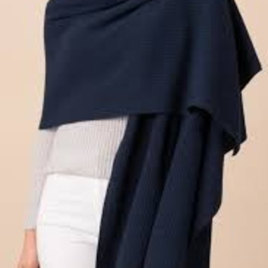 Margaret OLeary Lacey Wrap Cashmere, Navy