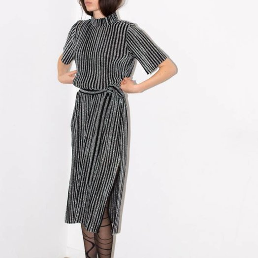 Aeryne Studio Dress, Noir Glitter