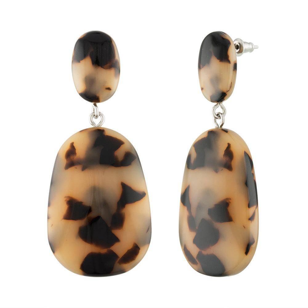 Machete Grande Drop Earrings in Blonde Tortoise
