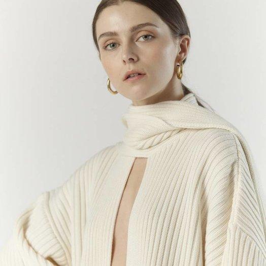 Aeryne Priya Sweater, Blanc