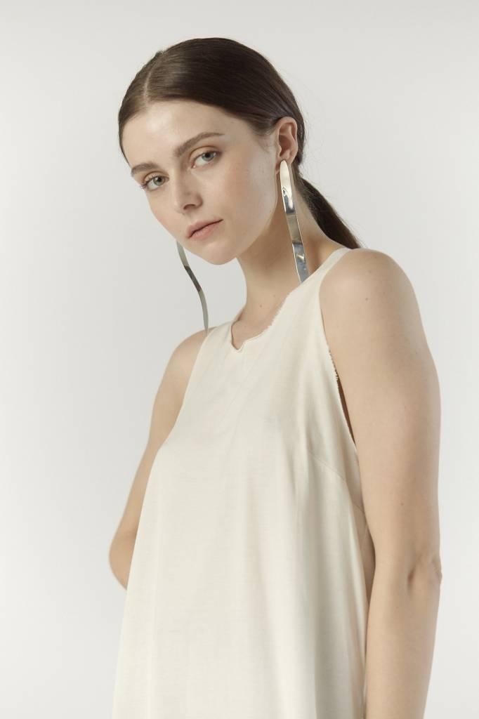 Raquel Allegra Muscle Tank, Ivory