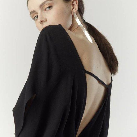 7115 by SZEKI Signature Kimono Dress, Black