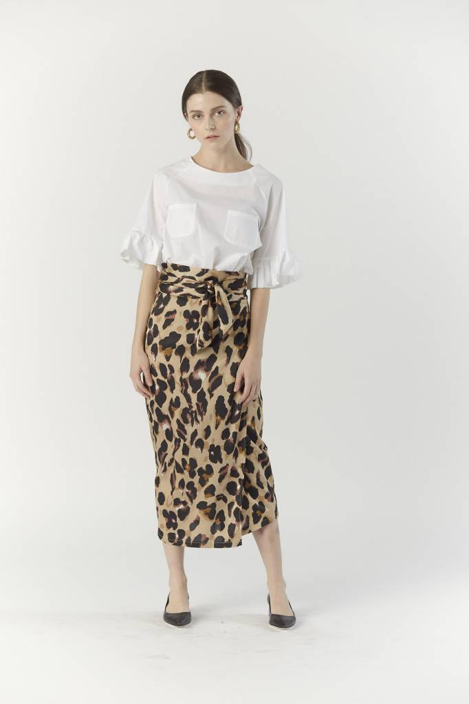 Never Fully Dressed Jaspre Skirt, Leopard