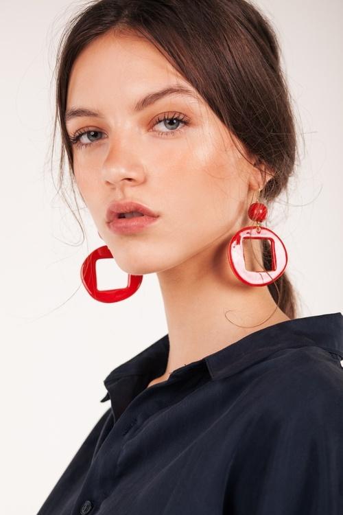 Pedrusco Cuba Red Earrings