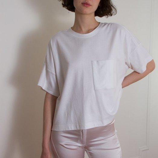 Suzanne Rae Boxy Pocket Tee, White