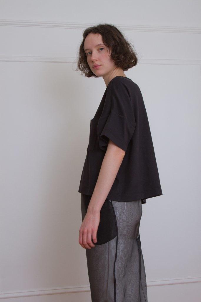 Suzanne Rae Boxy Pocket Tee, Black