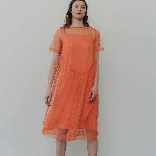 Wray Lilia Dress, Burnt Peach