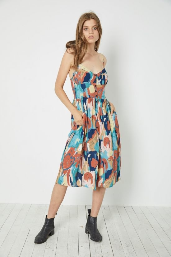 Rollas Eve Painted Tulip Dress