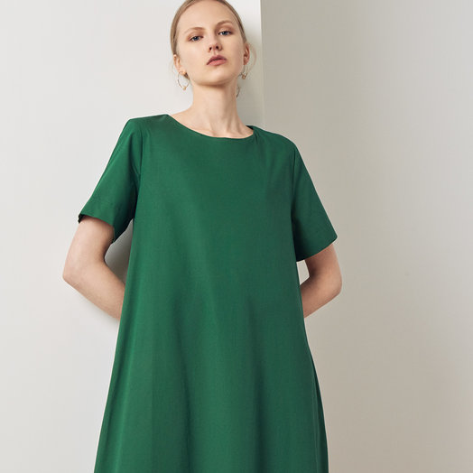 Kowtow Triangle Dress, Evergreen