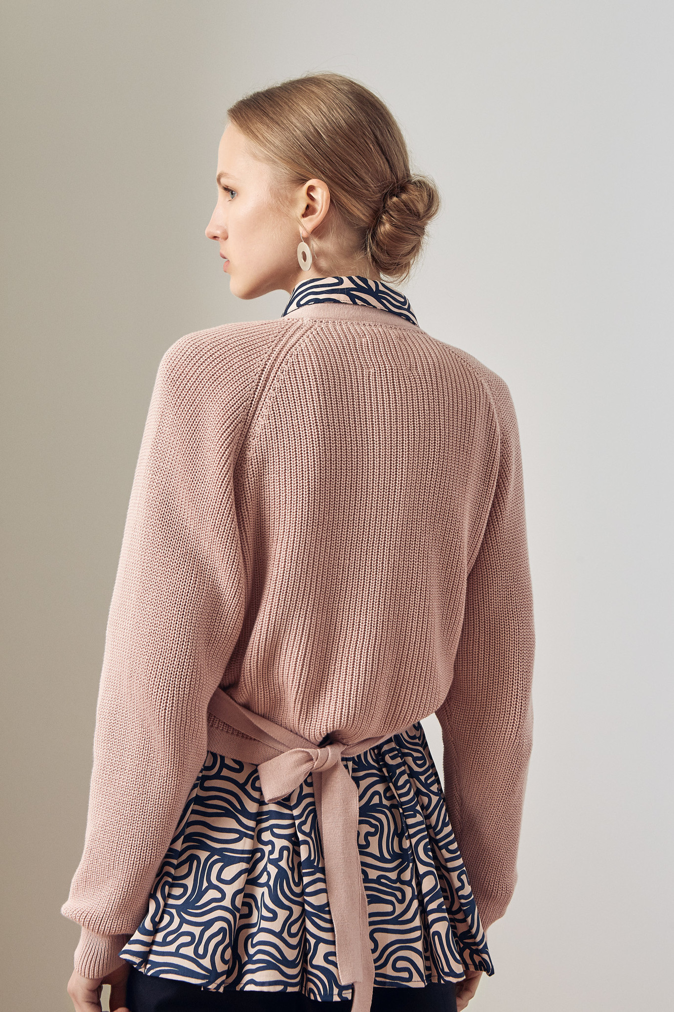 Kowtow Composure Cardigan. Rose