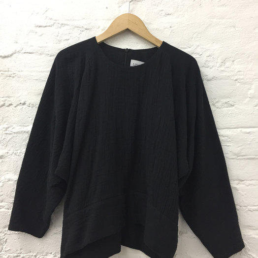 A Détacher Ty Top, Black, Cotton Gauze