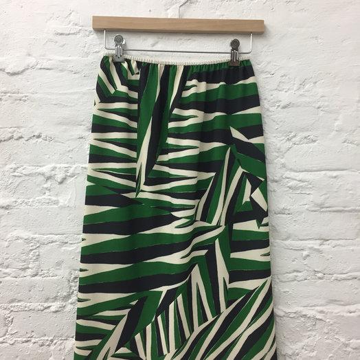 A Détacher Singrid Skirt, Arrows Print, Crepe Bias Skirt with Elastic Waistband